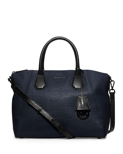 Campbell Large Satchel Bag, Navy/Black