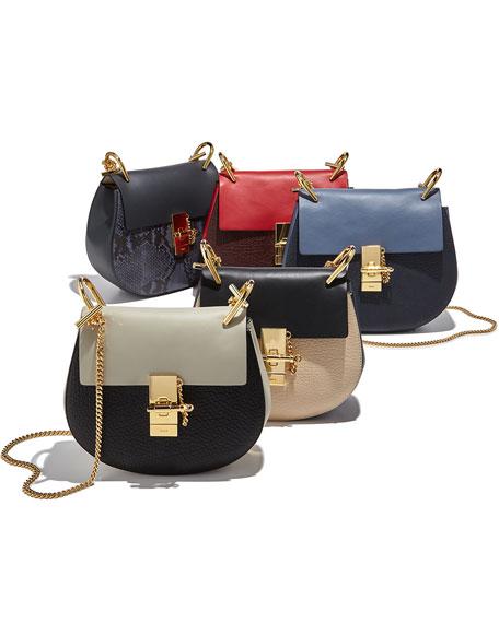 Drew Mini Shoulder Bag, Off White/Black