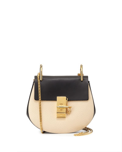 Drew Mini Shoulder Bag, Off White/Navy