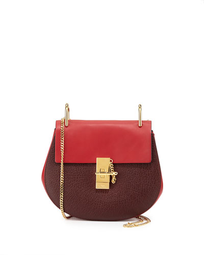 Drew Mini Shoulder Bag, Wine/Red