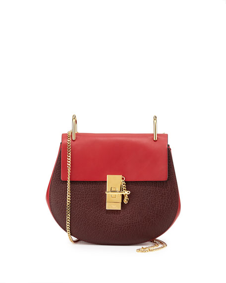 Chloe Drew Mini Shoulder Bag, Wine/Red
