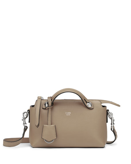 By The Way Mini Calf Satchel Bag, Light Gray by Neiman Marcus