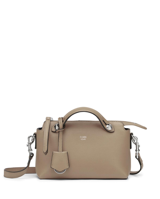 da464cc9401 Fendi By the Way Mini Calf Satchel Bag, Light Gray   Neiman Marcus