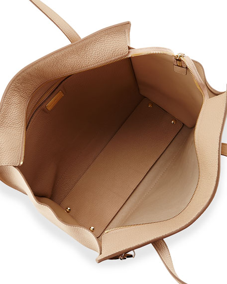 Large Tote Bag, New Bisque/Gold