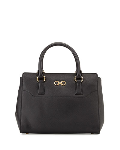 Beky Medium Saffiano Tote Bag, Nero