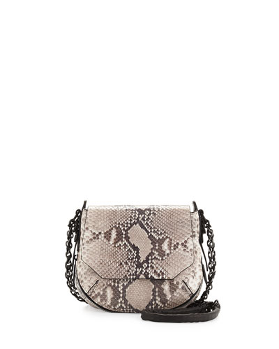 Bradbury Mini Flap Crossbody, Black/White