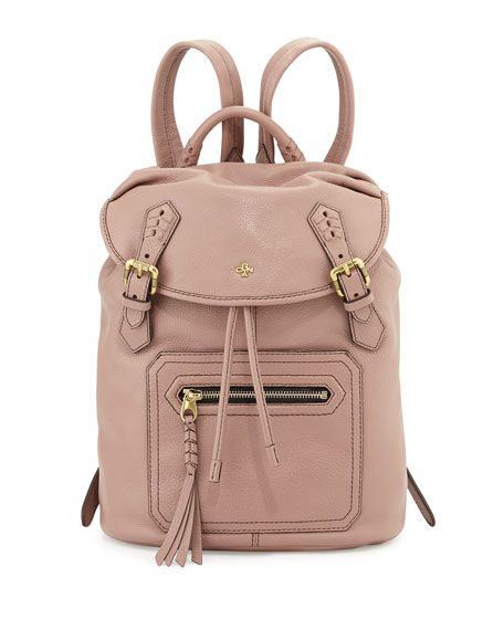 Oryany Jaylin Leather Backpack, Mushroom