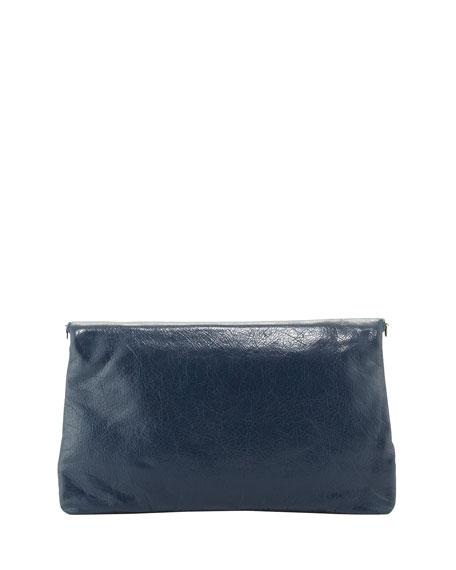 Giant 12 Lambskin Envelope Crossbody Bag, Blue