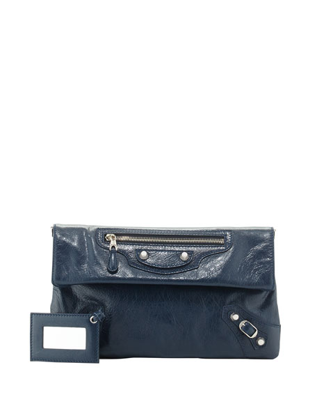 BalenciagaGiant 12 Lambskin Envelope Crossbody Bag, Blue