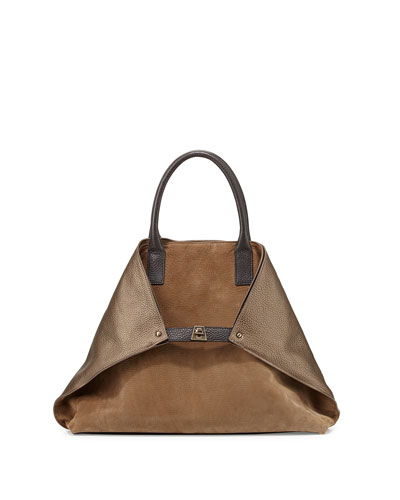 Ai Medium Messenger Bag, Vicuna