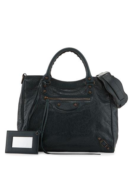 Balenciaga Classic Velo Lambskin Crossbody Bag, Green
