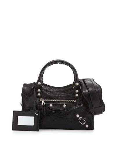 Balenciaga Giant 12 Nickel City Mini Satchel Bag,