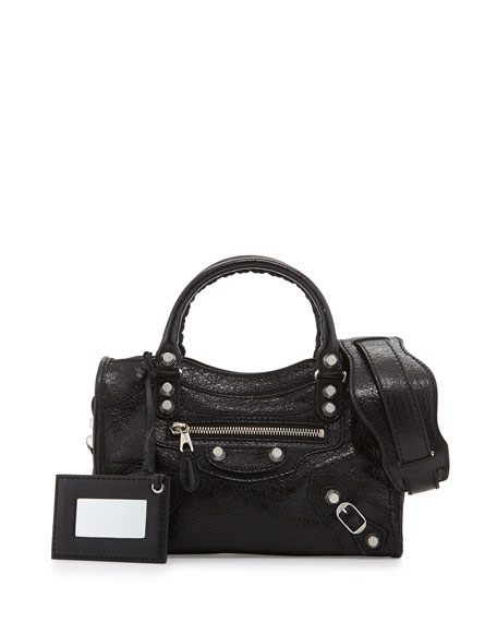 Balenciaga Giant 12 Nickel City Mini Satchel Bag,