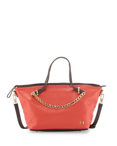 1ba97a3795d0 Halston Heritage Two-Tone Leather Satchel Bag