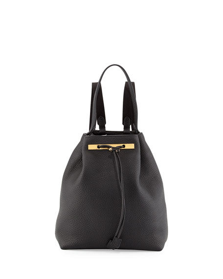 THE ROW Backpack 9 Leather Bag, Black