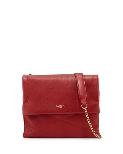 Sugar Mini Lambskin Shoulder Bag, Red