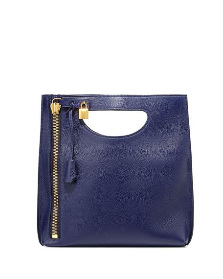TOM FORD Alix Fold-Over Crossbody Bag, Sapphire Blue