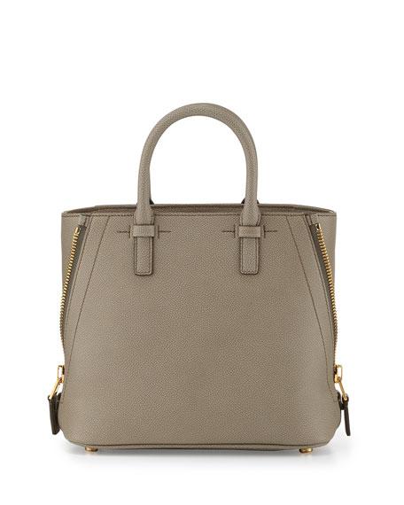 TOM FORD Jennifer Mini Trap Leather Tote Bag, Warm Taupe | Neiman ...