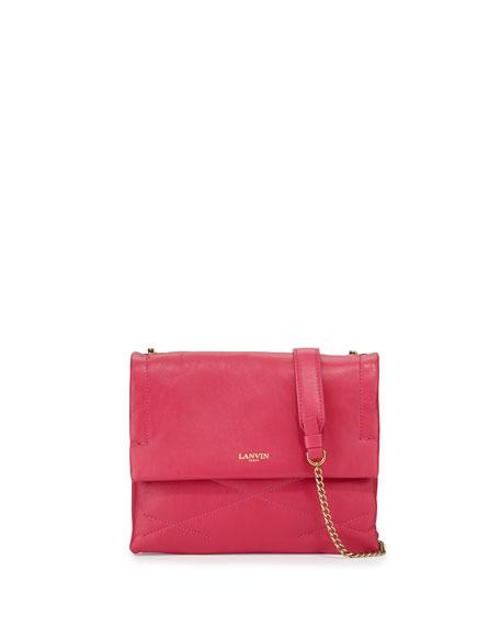 Lanvin Sugar Mini Lambskin Shoulder Bag, Fuchsia