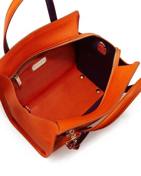 salvatore ferragamo amy small gancio leather tote bag