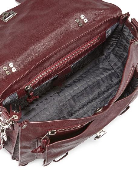 Proenza Schouler PS1 Medium Satchel Bag, Oxblood