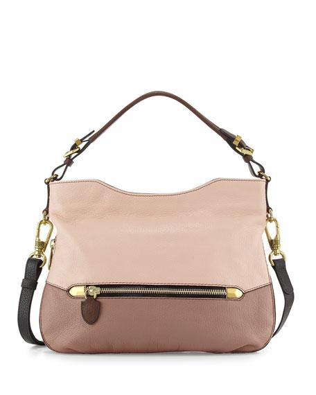 Oryany Ellie Leather Hobo Bag, Misty Rose
