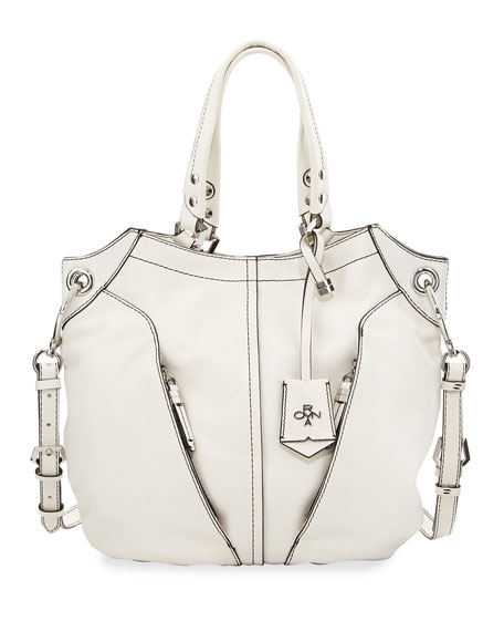 Oryany Victoria Leather Tote Bag, White