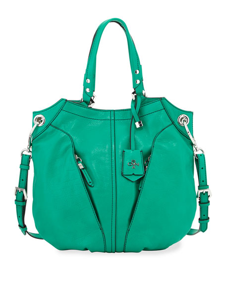 Oryany Victoria Leather Tote Bag, Grass