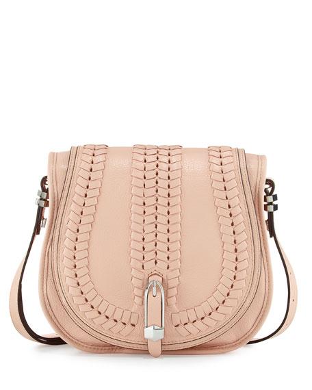 Oryany Amanda Leather Shoulder Bag, Misty Rose