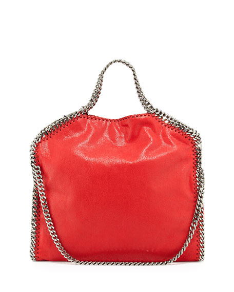 Stella McCartney Falabella Fold-Over Tote Bag, Cherry