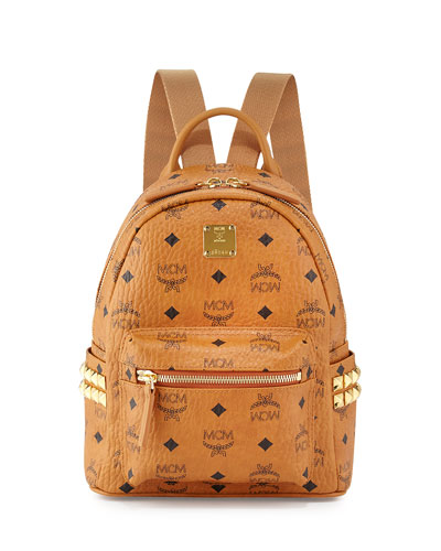 Stark Side Stud Mini Backpack, Cognac
