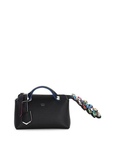 Fendi By The Way Mini Crystal-Croc-Tail Satchel Bag,