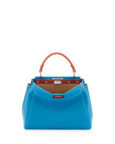 Peekaboo Mini Satchel Bag, Blue