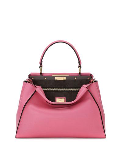Peekaboo Medium Satchel Bag, Pink