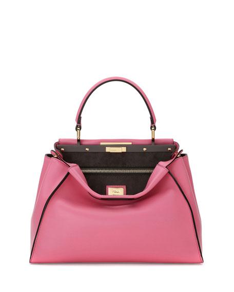Fendi Peekaboo Medium Satchel Bag, Pink