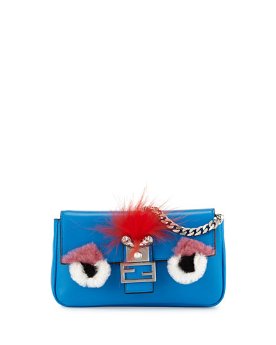 Baguette Micro Monster Bag, Blue Multi