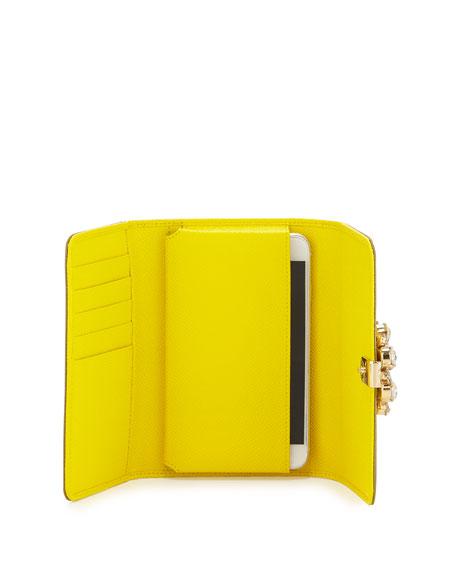 iPhone® Crystal Flower Crossbody Bag, Yellow