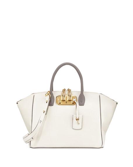 VBH Brera 32 Bicolor Vitello Leather Satchel Bag,
