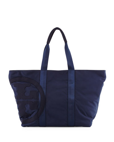 Penn Nylon Logo Zip Tote Bag, Tory Navy