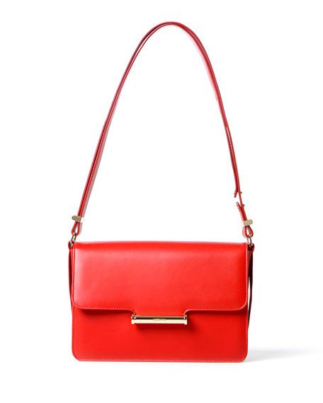 Diane Small Flap Shoulder Bag, Scarlet