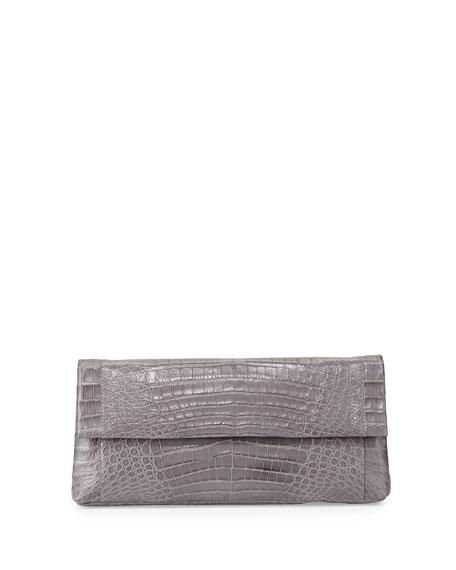 Nancy GonzalezGotham Crocodile Clutch Bag, Gray Matte