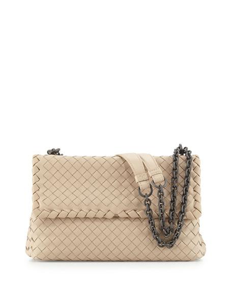 Bottega Veneta Olimpia Small Shoulder Bag, Mink