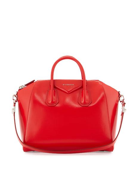 Givenchy Antigona Medium Satchel Bag, Medium Red