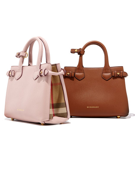 Banner House Check Derby Tote Bag, Tan