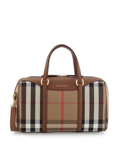 Burberry Alchester House Check Medium Derby Satchel Bag,