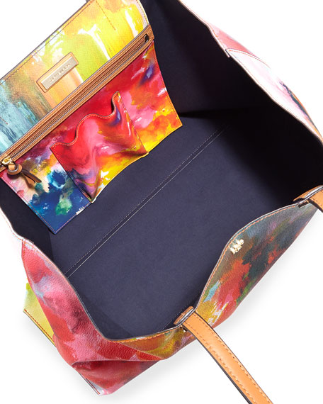 Image 2 of 3: Kerrington Watercolor Floral Tote Bag