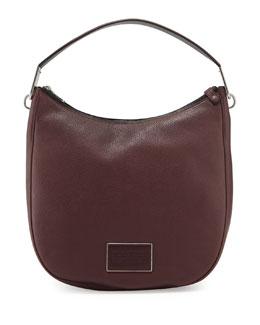 Ligero Pebbled Leather Hobo Bag, Cardamon Multi