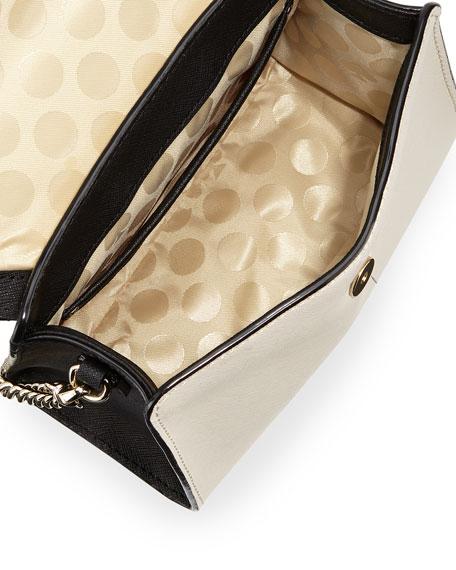 cedar street nora mini crossbody bag, black/beige/pink
