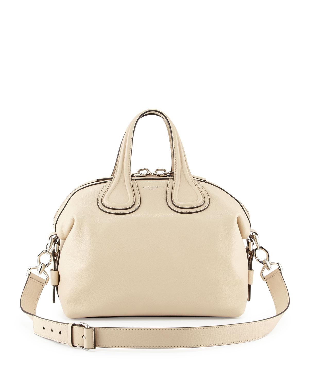 0b8b30a2ec84 Givenchy Nightingale Small Waxy Leather Satchel Bag
