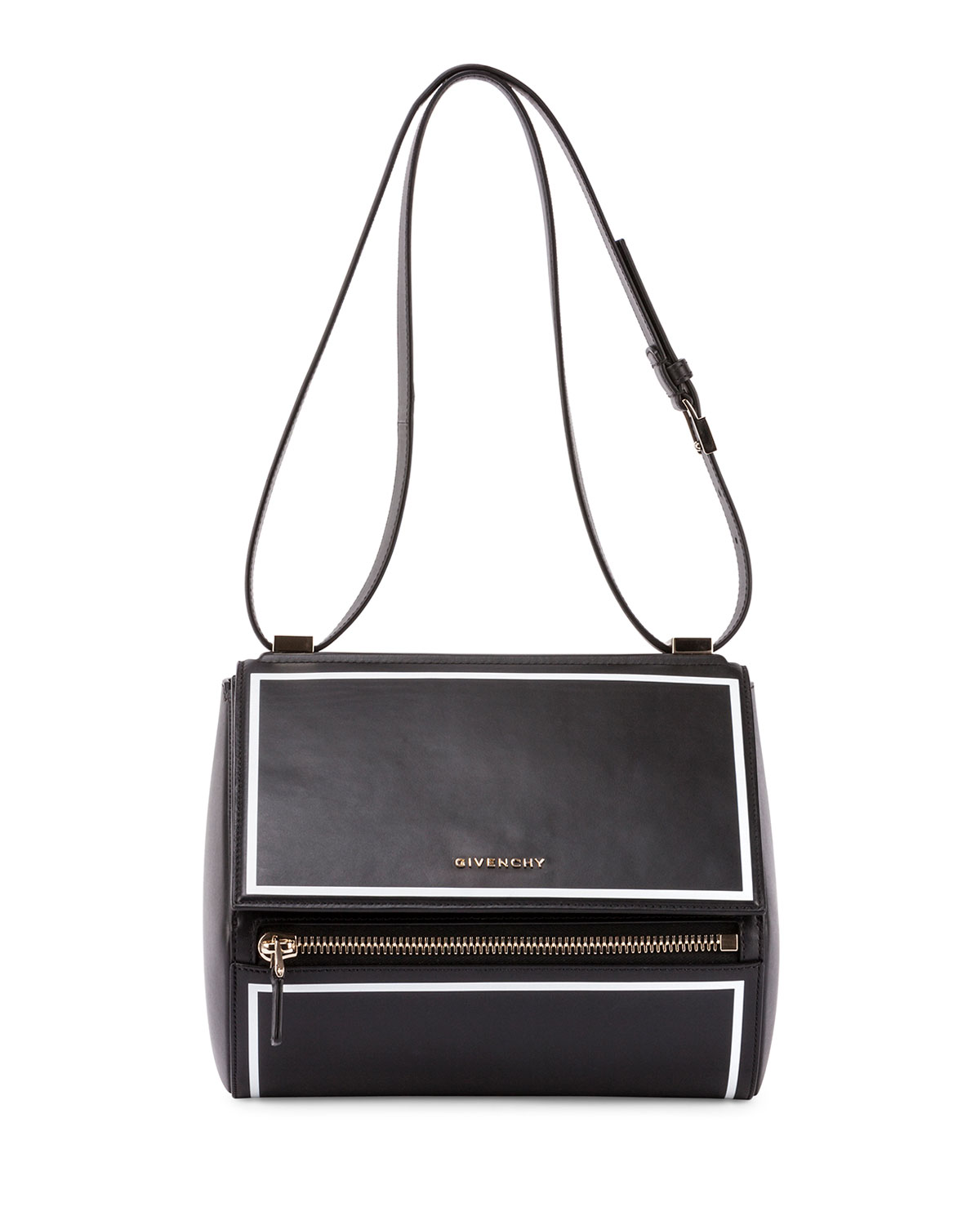 ec4064ba85 Givenchy Pandora Box Medium Shoulder Bag, Black | Neiman Marcus